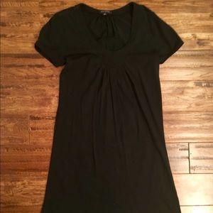 Banana Republic Sz M Black Cotton T-Shirt Dress